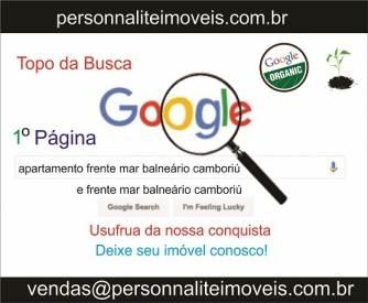 1º Página no Ranking do Google Apartamento Frente Mar Balneário Camboriu