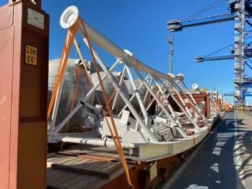Chegou no Porto de Itajaí  a BC Big Wheel: A roda-gigante de Balneário Camboriú