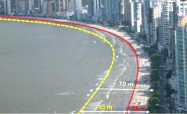 Licitação para o alargamento da faixa de areia de Balneário Camboriú foi reiniciada